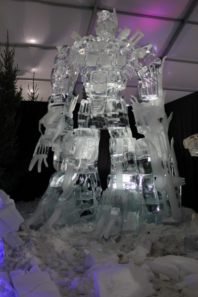 Optimus Prime Ice Statue 3