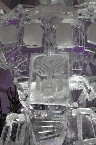 Optimus Prime Ice Statue 2