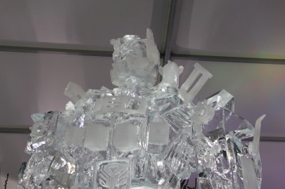 Optimus Prime Ice Statue 1