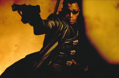 Wesley Snipes as the movie version of Blade