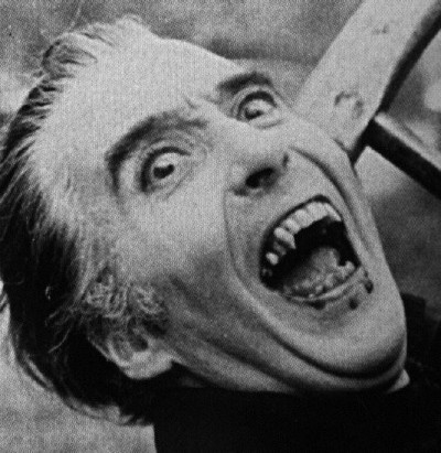 Christopher Lee: Not as handsome as Lugosi, but still striking as a Dracula.