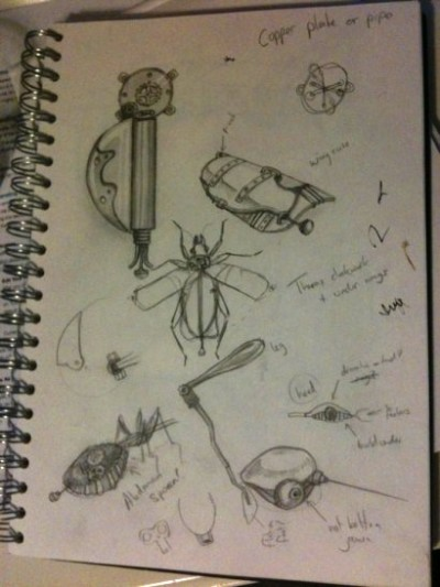 Tom's Steampunk drawings