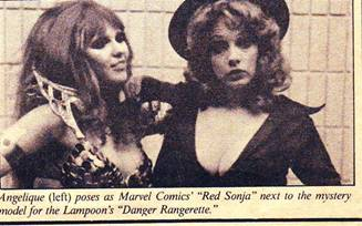 Red Sonja and Danger Rangeress retro cosplay