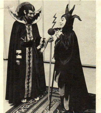 Ming the Merciless and Maleficent retro cosplay
