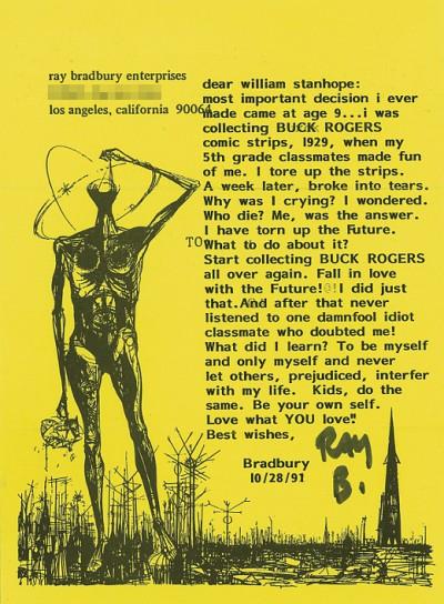 Bradbury's Letter