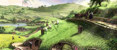 WETA's LotR Shire Art Print
