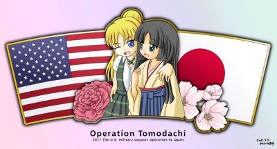 USA and Japan moe characters