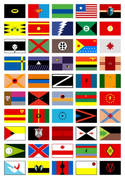 Superhero flags