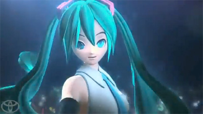 Miku Hatsune Stars in a Toyota Advert