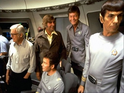 Gene Roddenberry and cast