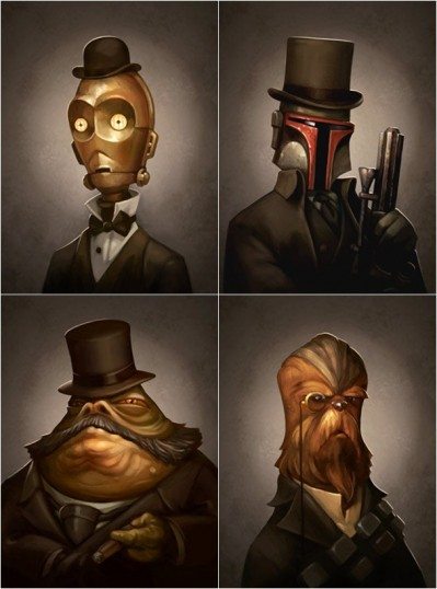 victorian star wars illustrations by  Greg Peltz