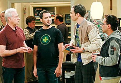 Spiner and Wheaton on Big Bang Theory