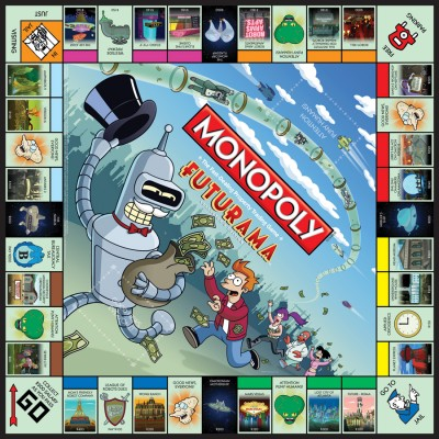 Futurama Monopoly board