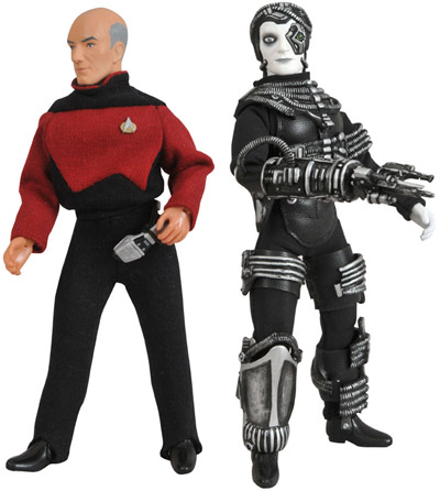 Picard & Borg Mego-style Figures