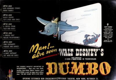 Vintage Disney Dumbo poster