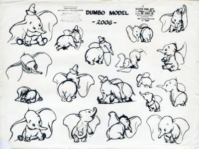 Dumbo character design sheet