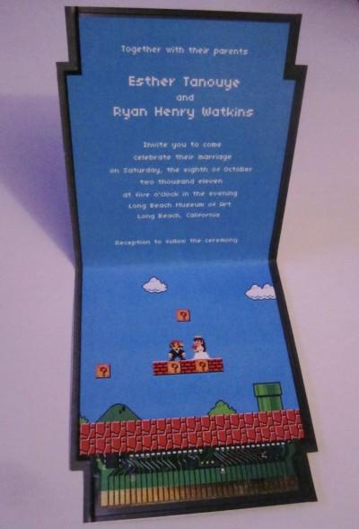 Super Mario Wedding Invitations Full