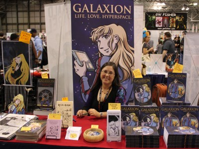 Tara Tallan author of the manga Galaxon at the New York Comic Con 2011 - photo by Christian Liendo