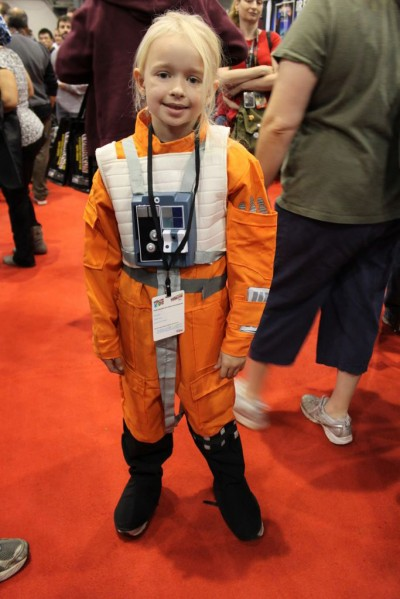 kids comic con x wing fighter pilot