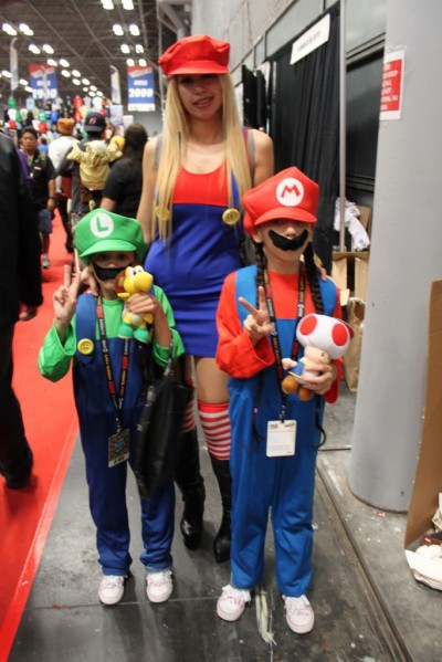 mario and luigi at kids comic con in new york city