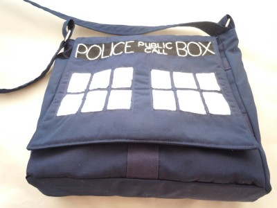 The Tardis Hipster Messenger Bag
