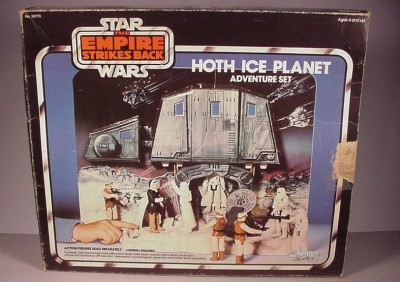 "Vintage 1980 Star Wars Hoth Ice Planet playset toy & Box for 3 3/4"" figures"