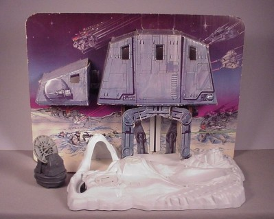 """Vintage 1980 Star Wars Hoth Ice Planet playset toy & Box for 3 3/4"""" figures"""