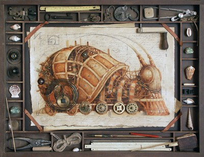 Steampunk Animal Illustration by Vladimir Gvozdev