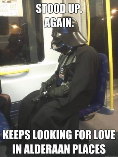Dateless Darth Vader on a Subway
