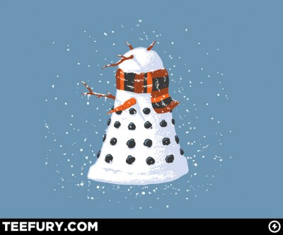Tee Fury Dalek Snowman t-shirt