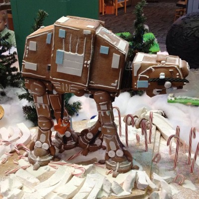An Edible Gingerbread AT-AT