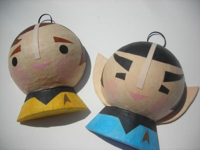 Kirk and Spock Christmas Tree Ornaments