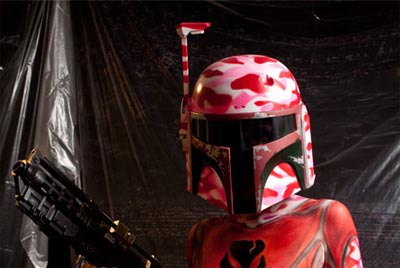 A Beautiful Boba Fett Star Wars Body Paint Project