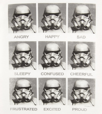 Why It's So Hard to Read Your Stormtrooper Buddy