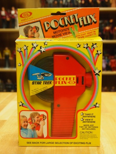 Star Trek Pocket Flix Viewer from Ideal toys circa 1978 featuring Star Trek