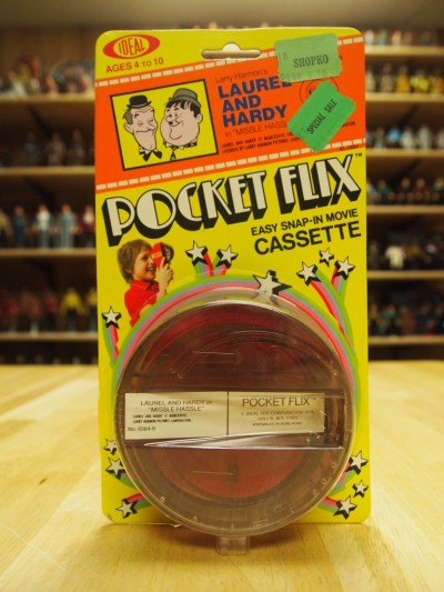Star Trek Pocket Flix Viewer from Ideal toys circa 1978 featuring the Laurel and Hardy