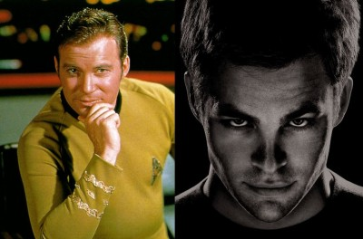 William Shatner / Chris Pine as Kirk