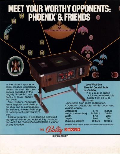 Phoenix videogame 1981