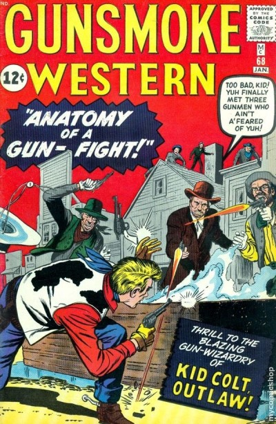a cowboy comic book from 1962