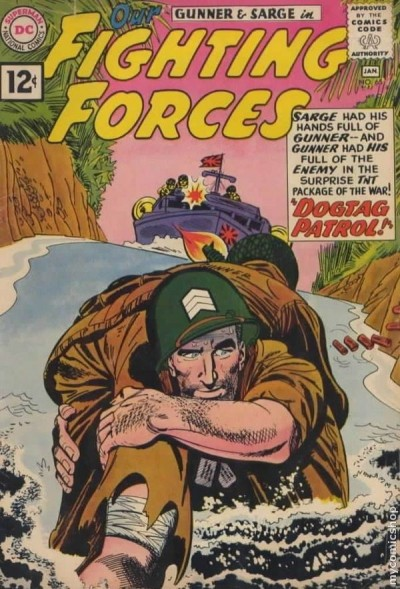 a combat themed comic book from january 1962