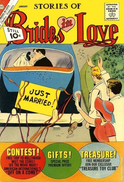 romance comic book cover from jan 1962