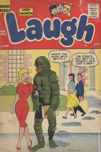 laugh comic book cover jan 1962
