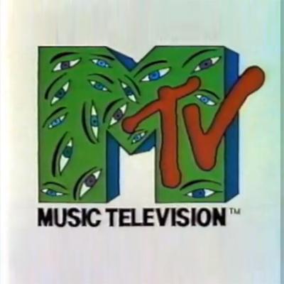 a vintage MTV logo