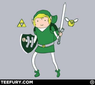 Legend of Zelda x Adventure Time teefury shirt
