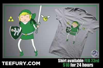 Legend of Zelda x Adventure Time TeeFury Ad
