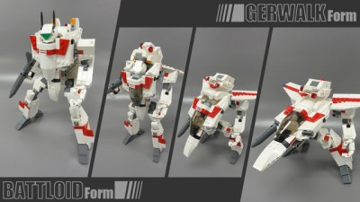 Macross Lego VF-1 Valkyries 2