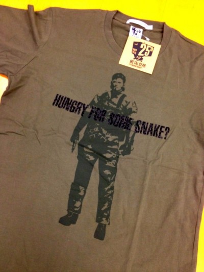 Metal Gear 25th Anniversary Uniqlo Shirts 4
