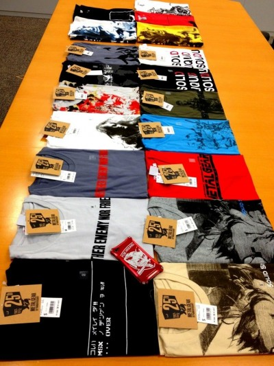 Metal Gear 25th Anniversary Uniqlo Shirts Full