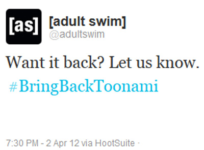 Adult Swim Twitter Feed