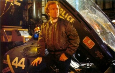 Ridley Scott on the set of Blade Runner